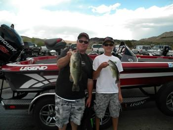5/18/13 Dennis & Jacob Miller Gunlock Big Bass 4.12